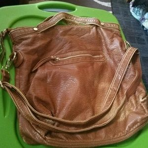 Soft leather hobo